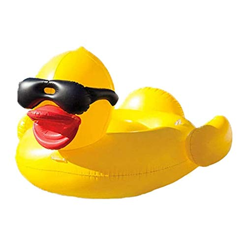 BEDDYB Pool Float Inflatable Large Yellow Sunglasses Duck Mount Floating Row,Safe Environmental Protection Material,Kids Floats for Swimming Inflatable Water Toy.