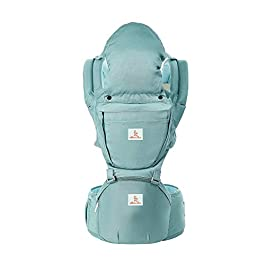 Baby Carrier Hip Seat 360 Ergonomic 6-in-1 Convertible Hipseat Baby Carrier with Nursing Cover for All Seasons, Toddler Tush Stool, Baby Wrap Carrier Front and Back for Shopping