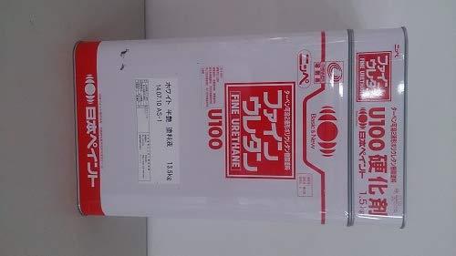 日本ペイント ファインウレタンU100 ホワイト 半艶 15kgセット