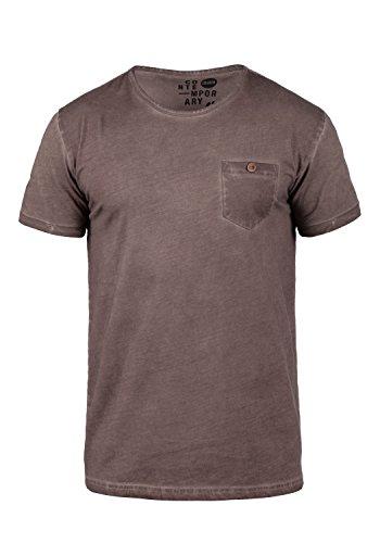 !Solid Teil Camiseta Básica De Manga Corta T-Shirt para Hombre con Cuello Redondo De 100% algodón