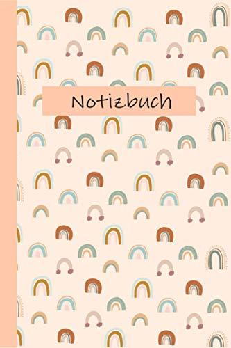 Notizbuch: Notizbuch in skandinavischem Design Hygge Regenbogen Pastell in A5 | 120 Seiten gepunktet - Bullet Journal Modern Skizzenbuch Ideenbuch Malbuch