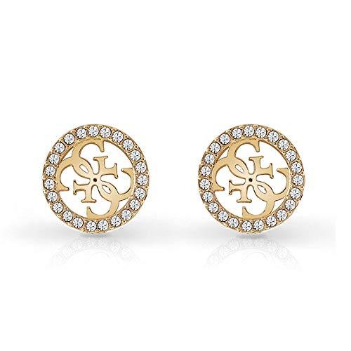 Guess Damen-Ohrstecker Edelstahl Kristall One Size Gold 32002325