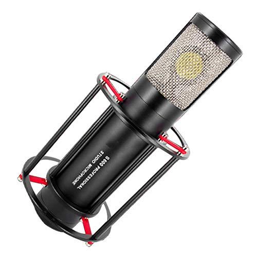 xiaohuozi Potente Micrófono de Condensador Micrófono de Drabación Profesional Diseño en Forma de Corazón Smart Totalmente Compatible Adecuado para Múltiples Escenarios