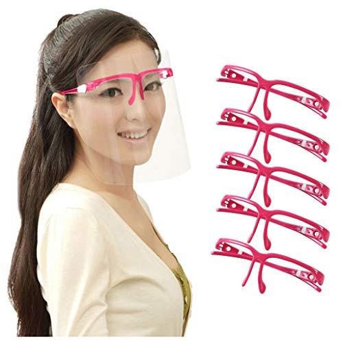 Maxpex 5P Unidades Soporte Reutilizable para la protección del lápiz Labial de la má5/cara Aumente el Espacio de respiración Ayuda a Respirar Suavemente Lavable