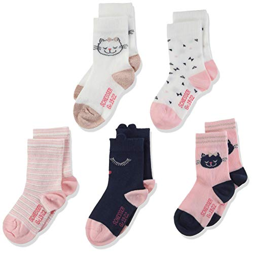Schiesser 5pack Kids Mädchen Socken, 5er pack, Mehrfarbig (Sortiert 1 901), 19-22