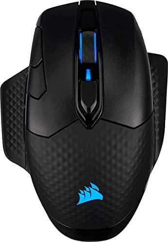 Corsair Dark Core RGB PRO SE kabellose Gaming-Maus mit kabelloser Qi-Aufladefunktion (18K DPI Sensor, Acht Programmierbare Tasten, Dynamische iCUE RGB-Hintergrundbeleuchtung) schwarz (Generalüberholt)