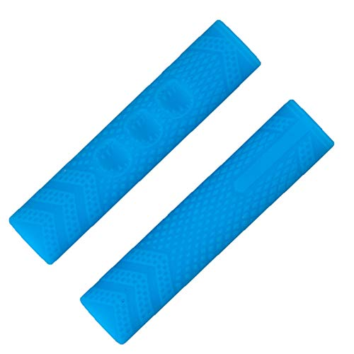 WEARRR 1 par Parejas Antideslizantes Handarras de Bicicleta MTB BMX Road Bike Mountain Bike Soft Silicone Handlebar Fin Grips 4 Colores (Color : Sky Blue)
