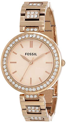 Fossil Damen Analog Quarz Uhr mit Edelstahl Armband ES3020