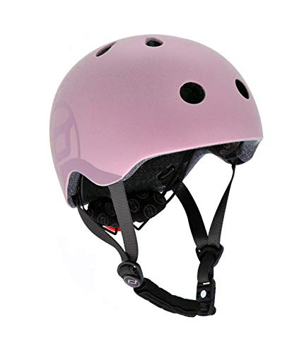 Scoot & Ride Kinder Fahrradhelm, Rose, 51 bis 55cm