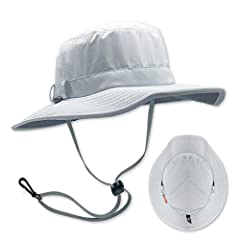 UPF 50+ Certified Eco Feather-Tech Fabric No Flop Brim Technology (Patent Pending) Removable Cord System (Patent Pending) Full Vapor Barrier Interior Liner NO SAG Perspiration Wicking Headband