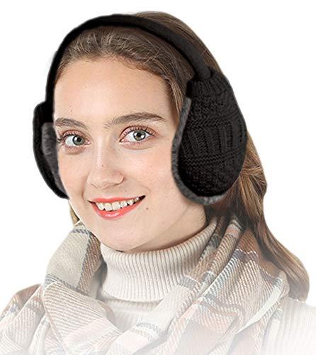 Knolee Unisex Knitting EarMuffs Faux Furry Earwarmer Winter Outdoor EarMuffs,Pink