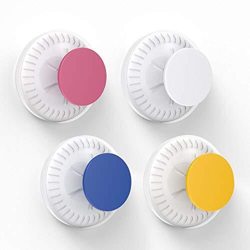 Luxear 4er Pack Saugnapf Haken bunt Kinderzimmer ohne Bohren, dekorative SaugHaken bombenfest, Saugnäpfe Haken DIY farbig für Glas Badezimmer Wohnzimmer Küche Türkranz, 5kg