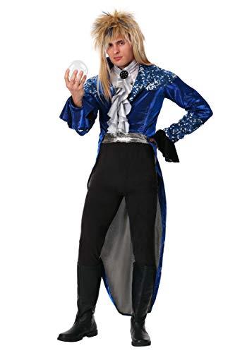Disfraz de Jareth de lujo para adulto, disfraz de rey duende - negro - X-Small