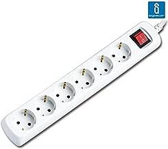 Aigostar - Regleta con 6 enchufes y 3 metros con interruptor