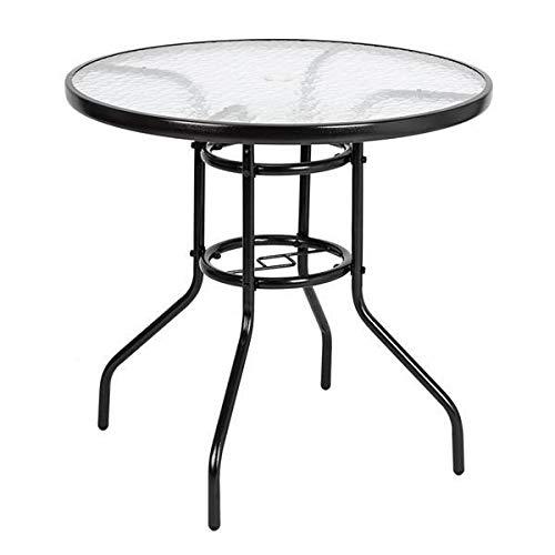 T-ara Suave y Confortable Mesa Exterior de Mesa Exterior Círculo Mesa de jardín de Mesa de Vidrio endurecido diseño de Moda