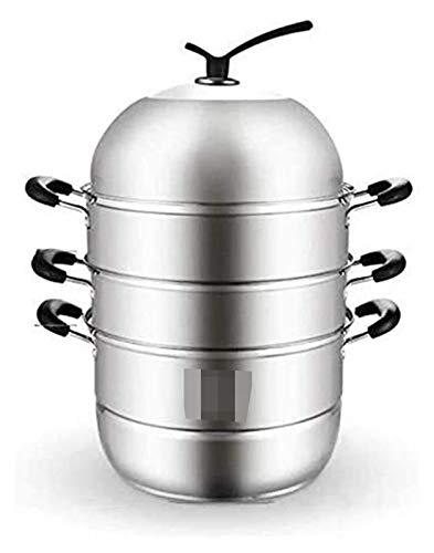 NBBB Sistema de vaporizador de vaporizador de Acero Inoxidable Conjunto de pote de Vapor de Vapor de pote al Vapor Pot 1219 (Size : 30cm)