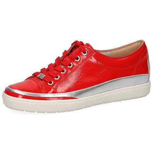 CAPRICE Damen Schnürhalbschuhe 23654-24, Frauen sportlicher Schnürer, Halbschuh schnürschuh strassenschuh Sneaker Lady,Chili Naplak,37 EU / 4 UK
