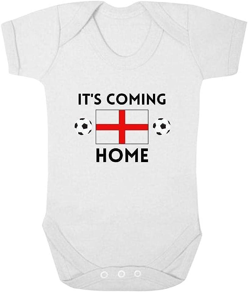 Second Ave England Football Euros Baby Grow Vest White Shortsleeve Babygrow Bodysuit - Various Designs