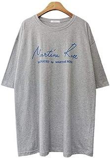 (イイネショップ) eeNeshop オーバーサイズ シンプル 半袖 ロングTシャツ ルーズフィット 体型カバー 春夏 ルームウェア コットン トップス レディース ファッション カジュアル フリー