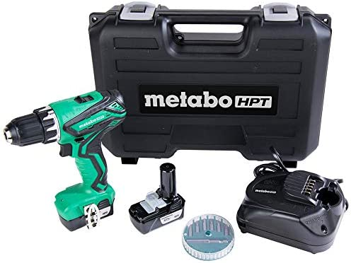 Metabo HPT DS10DFL2 Cordless Drill 12V Peak Includes 2 12V Lithium Ion Batteries Carrying Case product image