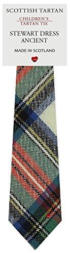 I Luv Ltd Garçon Tout Cravate en Laine Tissé et Fabriqué en Ecosse à Stewart Dress Ancient Tartan