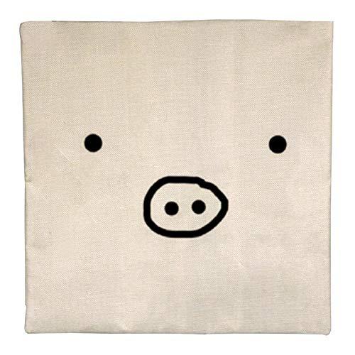 DKE&YMQ Funda de almohada de lino individual, diseo de emoticono circular con esfera ovalada
