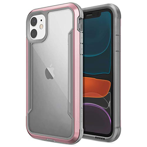 Raptic Shield, Compatible with Apple iPhone 11 (Formerly Defense Shield) - Military Grade Drop Tested, Anodized Aluminum, TPU, and Polycarbonate Protective Case, Apple iPhone 11, Rose Gold