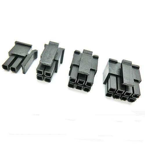 SIMNO JIAHONG Conectores de Cable de Alambre de 3-10pcs 2/4/6/8/10/12/14/16/19/20 / 24pin Molex 4.2 Pitch ATX ATX Conector Masculino Enchufe ATX Power Car 5777 Negro (Pins : 16P (5pcs))