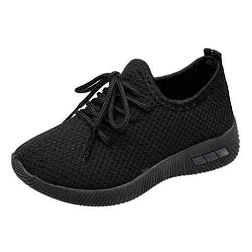 HWTOP Baby Mädchen Jungen Sportschuhe Kinder Kleinkind Mesh Laufschuhe Freizeit Bequeme Turnschuhe Sport Running Sneakers Freizeitschuhe, Schwarz, 35 EU