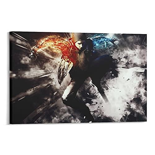 Heiwu Infamous Second Son Poster decorativo su tela da parete per soggiorno, camera da letto, 50 x 75 cm