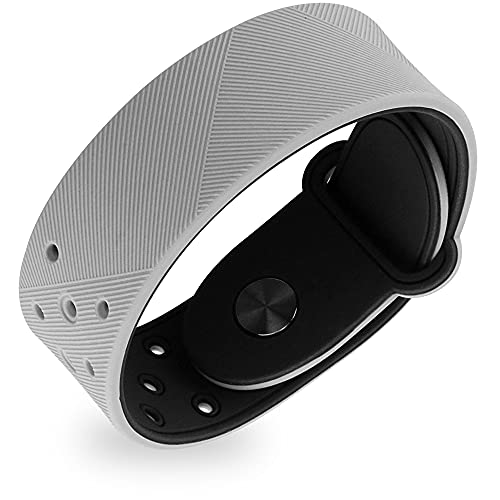 MagnetRX® Ultra Strength Sports Magnetic Bracelet - Waterproof Silicone Bracelet for Pain Relief, Circulation, Energy & Balance - Wide Magnetic Therapy Bracelet for Men & Women (Grey | Standard Size)