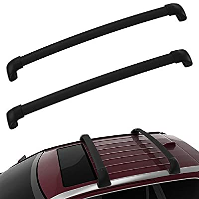 AUXKO Car Roof Racks Cross Bars Compatible for 2014-2019 Toyota Highlander XLE & Limited & SE, Aluminum Rooftop Crossbars Cargo Bag Rooftop Luggage Carrier Replacement Carrying Kayak Bike