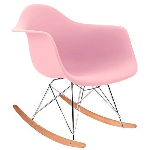 Chaise Privée Eames Schaukelstuhl–Pink, Natur