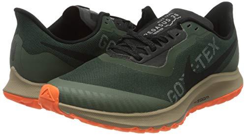 Nike Men's Track & Field Shoes, Multicolour Galactic Jade Black Juniper Fog Khaki 300, Womens 10