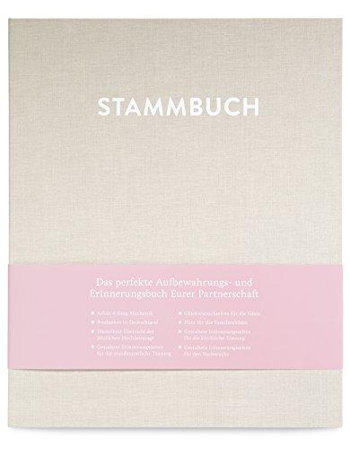GLÃœCK & SEGEN ALLES MIT LIEBE DIN A4 Stammbuch, Stammbuch der Familie, Familienstammbuch CASPAR (Cremebeige)
