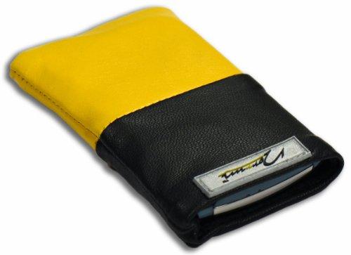 Norrun Handytasche / Handyhülle # Modell Gelsa # ersetzt die Handy-Tasche von Hersteller / Modell Benq-Siemens SX1 # maßgeschneidert # mit einseitig eingenähtem Strahlenschutz gegen Elektro-Smog # Mikrofasereinlage # Made in Germany