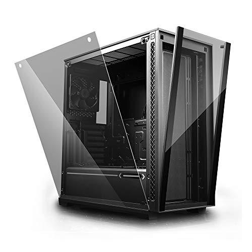 DeepCool Matrexx 70 Nero Case ATX USB 3.0 PC Gaming 0.6MM SPCC Front Tempered Glass Ventola da 120 mm Pannello Laterale in Vetro Temperato (AxPxL 492x475x228 mm)
