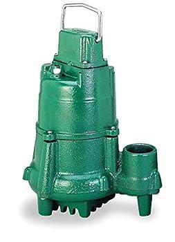 Model N98 Flow-Mate Non-Automatic Cast Iron Effluent Sump Pump - 115 V 1/2 HP