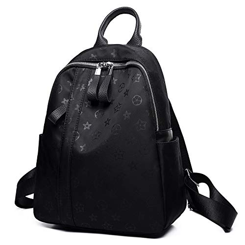 Backpack Rucksack Waterproof Oxford Cloth Two-Shoulder Bag Women'S Two-Shoulder Bag Casual Dual-Use Travel Backpack Lightweight 26 X 11 X 31Cm