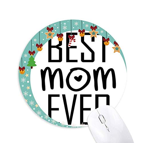Beste Mutter jemals Zitat Muttertag Maus Pad Jingling Bell Round Rubber Mat