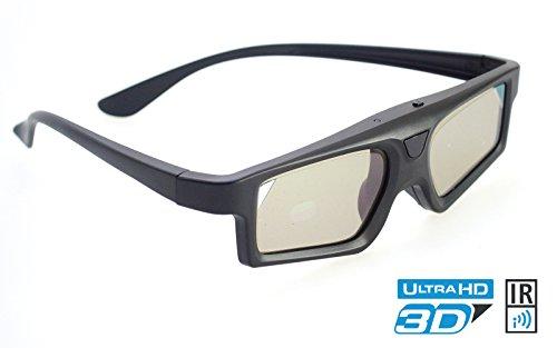 IR Pro 3D Brille Black Light für Infrarot gesteuerte 3DTV's   kompatibel mit Philips PTA508 / PTA509/00 / PTA516/00 / 3 Jahre deutsche Garantie [ Shutterbrille   Akkubetrieb   Infrarot   Schwarz]