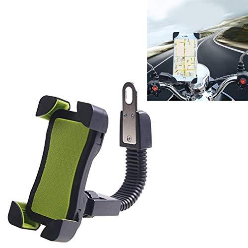 WLWLEO Universal 360 ° Free Rotation ABS Motorfiets-telefoonhouder navigatiehouder voor mountainbike, GPS/mobiele telefoonhouder voor mobiele telefoons van 3,5-6,5 inch, groen