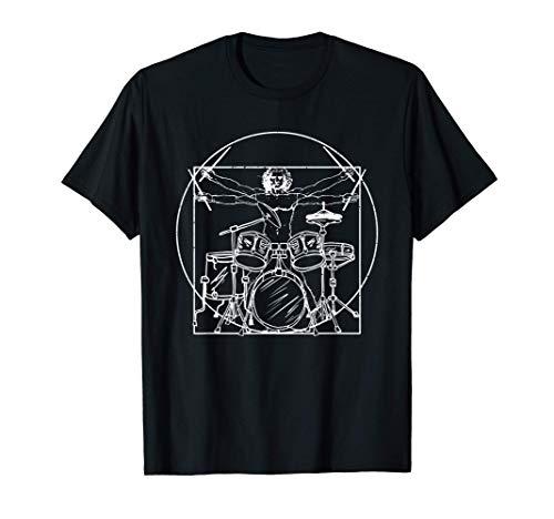 Schlagzeug Geschenk: Da Vinci Zeichnung T-Shirt