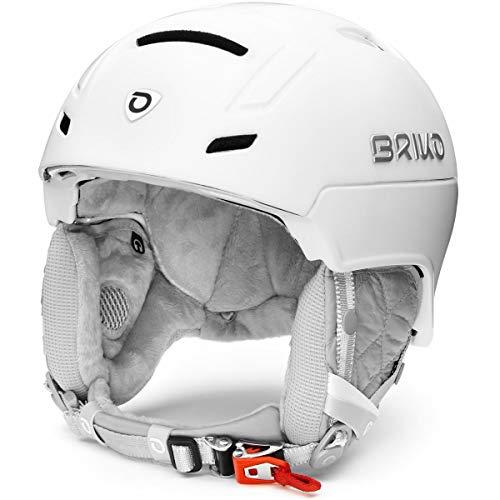 Briko Ambra Casco de esquí/Snow, Mujeres, Matt Shiny Pearl White, 56-58 cm