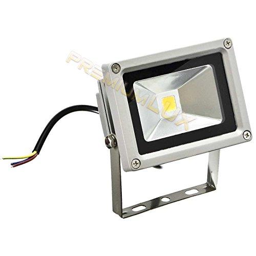 LED Fluter, LED Strahler, 10 Watt LED Flutlicht Fluter Strahler im Freien, Ersetzt 100 Watt Glühlampen and Halogenlampen, Warmweiss 220-240V, PREMIUMLED