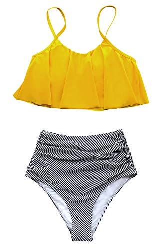 CUPSHE Women's High Waisted Falbala Bikini Sets...