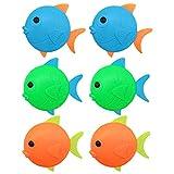 TOYANDONA 6 Piezas de Juguetes de Buceo para Piscina de Peces Que Se Hunden en Forma de Peces Juguetes de Natación de Buceo Subacuático Juguete de Baño para Bebés para Niños
