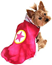 Pink Superhero Halloween Costumes For Dogs