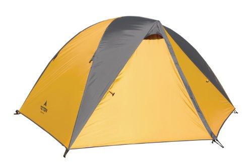 Teton Sports de Montagne Ultra Tente; Tente de randonnée avec Empreinte, Rainfly, et Sacs de Stockage Gratuit Inclus, Orange/Gris