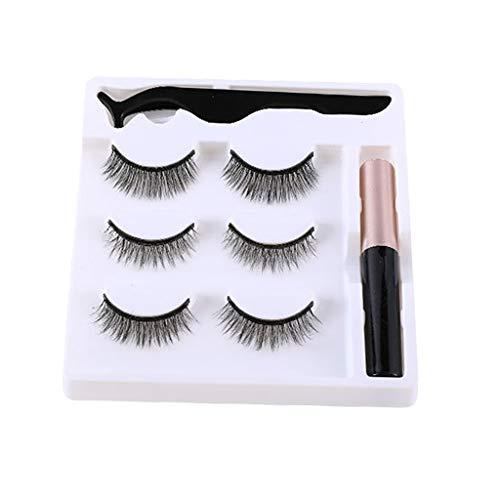 dailymall 5 pièces Eyeliner Faux Cils Magnetique Réutilisables avec Kit de Outils - Imperméable - M14 Mixte